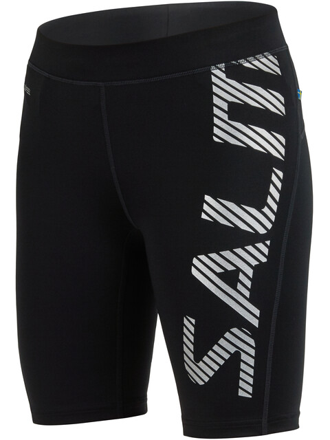 Salming Power Logo Hardloop Shorts Dames grijs/zwart